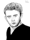 Cartoon: James Dean (small) by Pascal Kirchmair tagged actors,studio,lee,strasberg,james,dean,east,of,eden,indiana,manhattan,new,york,upper,side,academy,awards,oscar,oscars,author,autor,autore,auteur,filmmaker,artist,art,hollywood,illustration,drawing,zeichnung,pascal,kirchmair,cartoon,caricature,karikatur,ilustracion,dibujo,desenho,ink,disegno,ilustracao,illustrazione,illustratie,dessin,de,presse,du,jour,the,day,tekening,teckning,cartum,vineta,comica,vignetta,caricatura,portrait,porträt,portret,retrato,ritratto,actor,acting,schauspieler,rebell,rebel,without,cause,clue,giant,usa