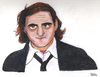 Cartoon: Joaquin Phoenix (small) by Pascal Kirchmair tagged san,juan,puerto,rico,usa,watercolour,joaquin,phoenix,karikatur,caricature,portrait,aquarell,hollywood,schauspieler,actor,acteur,vedette,star