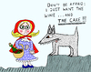 Cartoon: Little Red Riding Hood (small) by Pascal Kirchmair tagged little red riding hood rotkäppchen le petit chaperon rouge cappuccetto rosso