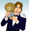 Cartoon: Luka Modric (small) by Pascal Kirchmair tagged luka,modric,illustration,drawing,zeichnung,pascal,kirchmair,cartoon,caricature,karikatur,ilustracion,dibujo,desenho,ink,disegno,ilustracao,illustrazione,illustratie,dessin,de,presse,du,jour,art,of,the,day,tekening,teckning,cartum,vineta,comica,vignetta,caricatura,portrait,retrato,ritratto,portret,genius,genie,mastermind,ballondor,croatia,real,madrid,kroatien,soccer,fußball,futbol,futebol,football,foot,spielführer,midfielder,playmaker,spielmacher,trequartista,croatie