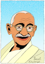 Cartoon: Mahatma Gandhi (small) by Pascal Kirchmair tagged mahatma,gandhi,cartoon,caricature,karikatur,dibujo,drawing,retrato,portrait,pascal,kirchmair,vignetta,ritratto,india,indien,asket,pazifistischer,widerstand,nonviolent,civil,pacifist,disobedience,zeichnung,disegno,dessin,desenho