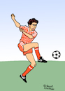 Cartoon: Marco van Basten (small) by Pascal Kirchmair tagged marco,van,basten,cartoon,caricature,karikatur,dibujo,pascal,kirchmair,drawing,dessin,vignetta,dutch,holland,88,1988,uefa,euro,star,football,fußball,foot,futebol,futbol,soccer,netherlands,niederlande