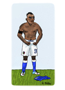 Cartoon: Mario Balotelli (small) by Pascal Kirchmair tagged futebol futbol soccer foot football super mario balotelli italia italien squadra azzurra calcio fußball weltmeisterschaft cartoon caricature karikatur