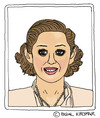 Cartoon: Marion Cotillard (small) by Pascal Kirchmair tagged marion,cotillard,cartoon,karikatur,caricature,portrait
