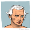 Cartoon: Max Ernst (small) by Pascal Kirchmair tagged max,ernst,caricature,karikatur,cartoon,zeichnung,portrait,retrato,dibujo,desenho,dessin,drawing,illustration,disegno,ritratto