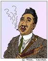 Cartoon: Muddy Waters (small) by Pascal Kirchmair tagged muddy waters caricature karikatur portrait retrato cartoon mississippi deer creek rolling fork blues music musik soul mckinley morganfield