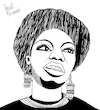 Cartoon: Nina Simone (small) by Pascal Kirchmair tagged rnb classical bürgerrechtsbewegung soul eunice kathleen waymon black music nina simone singer songwriter civil rights movement jazz rhythm and blues folk gospel pop cartoon caricature karikatur ilustracion illustration pascal kirchmair dibujo desenho drawing zeichnung disegno ilustracao illustrazione illustratie dessin de presse du jour art of the day tekening teckning cartum vineta comica vignetta caricatura humor humour political portrait retrato ritratto portret chan porträt artiste artista artist usa pianistin pianist pianista tryon north carolina carry le rouet