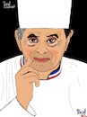 Cartoon: Paul Bocuse (small) by Pascal Kirchmair tagged paul bocuse chef cuisinier illustration drawing zeichnung pascal kirchmair cartoon caricature karikatur ilustracion dibujo desenho ink disegno ilustracao illustrazione illustratie dessin de presse du jour art of the day tekening teckning cartum vineta comica vignetta caricatura portrait retrato ritratto portret lyon france gastronomie chefkoch koch gastronom