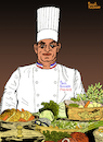 Cartoon: PAUL BOCUSE II (small) by Pascal Kirchmair tagged monsieur,paul,chef,cuisinier,illustration,caricature,karikatur,drawing,dessin,zeichnung,pascal,kirchmair,desenho,dibujo,ilustracion,ilustracao,illustrazione,illustratie,tekening,teckning,cartoon,portrait,porträt,retrato,ritratto,portret,cartum,art,of,the,day,du,jour