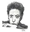 Cartoon: Philip Glass (small) by Pascal Kirchmair tagged philip,glass,illustration,drawing,zeichnung,pascal,kirchmair,cartoon,caricature,karikatur,ilustracion,dibujo,desenho,ink,disegno,ilustracao,illustrazione,illustratie,dessin,de,presse,du,jour,art,of,the,day,tekening,teckning,cartum,vineta,comica,vignetta,caricatura,portrait,retrato,ritratto,portret,kunst,minimal,music,baltimore,maryland,composer,musician,musik,musiker,komponist,usa,pencil,bleistift