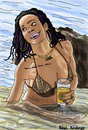 Cartoon: Rihanna (small) by Pascal Kirchmair tagged rihanna,barbados,bikini,fun,beach,party,cartoon,caricature,karikatur,vignetta,dessin,zeichnung