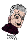 Cartoon: Samuel Beckett (small) by Pascal Kirchmair tagged warten,auf,en,attendant,godot,irisch,dublin,samuel,beckett,literatur,nobelpreis,schriftsteller,writer,author,poet,autor,auteur,ecrivain,poete