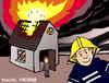 Cartoon: Selfie (small) by Pascal Kirchmair tagged feu,incendie,pompier,firefighter,brand,feuer,fire,unnötiger,dispensable,selfie,inutile,feuerwehrmann,cartoon,karikatur,caricature