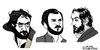 Cartoon: Stanley Kubrick (small) by Pascal Kirchmair tagged stanley,kubrick,cartoon,caricature,portrait,karikatur,dessin,drawing,zeichnung,dibujo,illustration,desenho,disegno,schizzo
