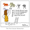 Cartoon: The first social Networker (small) by Pascal Kirchmair tagged social,network,networking,networker,caveman,cave,art,painting,caricature,cartoon,vignetta,karikatur,humor,humour,steinzeit,höhlenmalerei,lascaux,dessin,dibujo,drawing,illustration,zeichnung,ilustracion,pascal,kirchmair,portrait,retrato,ritratto,desenho,disegno,ilustracao,illustrazione,illustratie,du,jour,arte,of,the,day,tekening,teckning,cartum,vineta,comica,caricatura,immagine,image,bild,imagen,imagem,ink,tusche,inktober,homme,des,cavernes,troglodita,hombre,de,las,cavernas,cavernicolo