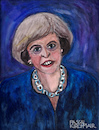 Cartoon: Theresa May (small) by Pascal Kirchmair tagged theresa may caricature portrait retrato ritratto drawing illustration karikatur zeichnung pascal kirchmair cartum dibujo desenho dessin uk prime minister tories england united kingdom brexit london watercolour aquarell painting peinture malerei dipinto cuadro quadro