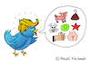 Cartoon: Twitter-Trump (small) by Pascal Kirchmair tagged twitter president donald trump tweets caricature cartoon karikatur usa bashing