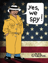 Cartoon: Yes we spy (small) by Pascal Kirchmair tagged yes,we,spy,barack,obama,usa,nsa,spionage,grundrechte,privatsphäre,amerika,washington