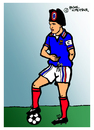 Cartoon: Zinedine Zidane (small) by Pascal Kirchmair tagged nummer 10 mannschaft kapitän napoleon star zehn spielführer taktik sport portrait zinedine zidane foot fußball vision jeu caricature karikatur