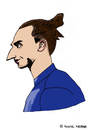 Cartoon: Zlatan Ibrahimovic (small) by Pascal Kirchmair tagged sweden,schweden,malmö,zlatan,ibrahimovic,psg,paris,saint,germain,karikatur,cartoon,caricature,fußballer,soccer,player,footballer,footballeur