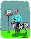 Cartoon: animal bar coding (small) by kar2nist tagged barcoding,zebra