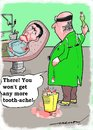 Cartoon: dental solution (small) by kar2nist tagged dentist,extraction,tooth,ache