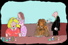 Cartoon: Different Needs (small) by kar2nist tagged hair,straightening,curling,lion,beauty,parlour