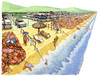 Cartoon: Bella vita privat beach (small) by Niessen tagged beach summer privat luxus crowd strand sommer menge