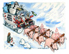 Cartoon: Buon Natale Italia (small) by Niessen tagged pigs,garbage,trash,christmas,snow,white,happy