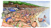 Cartoon: Carnaio (small) by Niessen tagged italy summer sea meat fat people beach crowd italien sommer fleisch strand fett voll italia spiaggia carne estate grasso