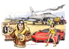 Cartoon: Euro burner (small) by Niessen tagged eurofighter euro money pilot