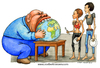 Cartoon: The good family father (small) by Niessen tagged eat world globe rich poor fat thin hunger