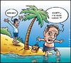 Cartoon: It s friday (small) by Carayboo tagged friday,robinson,crusoe,defoe,island,alone,sea