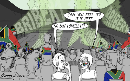 Cartoon: Can you feel it? It is here... (medium) by donno tagged fifa,corruption,south,africa,2010,soccer,bribery,it