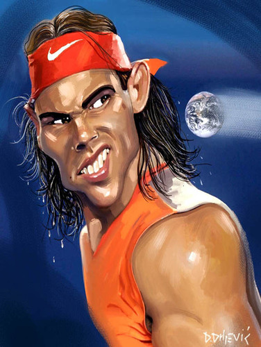 Cartoon: Nadal (medium) by drljevicdarko tagged nadal