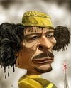 Cartoon: gaddafi (small) by drljevicdarko tagged oil,and,blood
