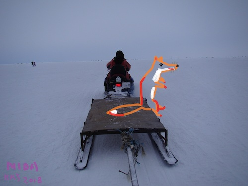 Cartoon: Visit to fishermen (medium) by Kestutis tagged observagraphics,winter,fox,fish,kestutis,lithuania