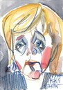Cartoon: Angela Merkel in Moskau (small) by Kestutis tagged angela,merkel,moskau,putin,germany,france,moscow,eu,europe,watercolor,portrait,caricature,russia,ukraine,hollande