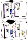 Cartoon: COFFEE AND BEER (small) by Kestutis tagged beer,coffee,humour