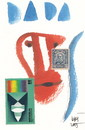 Cartoon: DADA (small) by Kestutis tagged dada,art,kunst,postcard,dadaism,stamps,sketch,kestutis,lithuania