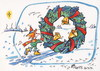 Cartoon: Journey to Christmas (small) by Kestutis tagged elf,winter,journey,kestutis,weihnachten,reise,christmas
