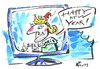 Cartoon: KING GREETING (small) by Kestutis tagged king,tv,greeting,speech,happy,new,year