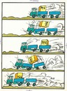 Cartoon: Logistics (small) by Kestutis tagged logistics,transport,kestutis,lithuania,sluota,strip,comic