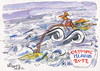 Cartoon: OLYMPIC ISLAND. Bicycle (small) by Kestutis tagged olympic,island,bicycle,london,2012,summer,sport,athletics,ocean,palm,kestutis,siaulytis,lithuania,hurricane,storm,desert,tide,wind
