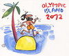 Cartoon: OLYMPIC ISLAND. Marathon (small) by Kestutis tagged olympic,island,marathon,athletics,greece,sport,london,strip,ocean,palm,2012,summer,kestutis,siaulytis,lithuania,desert