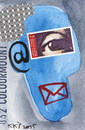 Cartoon: Post. Communication (small) by Kestutis tagged mailbox,email,communication,mail,dada,postcard,kestutis,lithuania