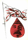 Cartoon: Red flag (small) by Kestutis tagged red flag rote fahne lithuania kestutis ussr stalin
