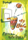 Cartoon: Rio. African basketball (small) by Kestutis tagged basketball olympics 2016 sports summer rio brazil games africa