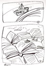 Cartoon: SHIP AND THE SEA (small) by Kestutis tagged ship sea newspapers books