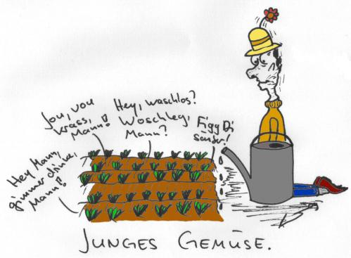 Cartoon: Junges Gemüse (medium) by al_sub tagged junges,gemüse,garten
